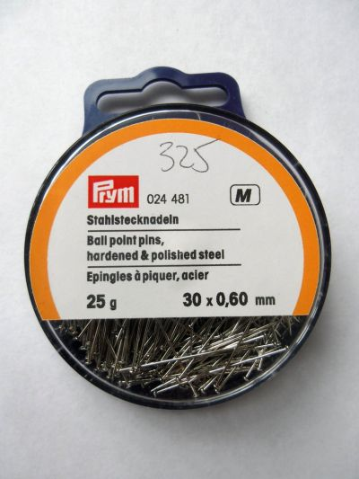 Prym Ball Point pins 30 x 0.6mm 25g