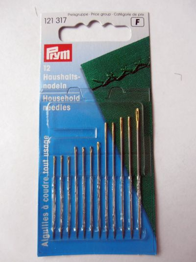 Prym Household Needles Pack of 12 Assorted