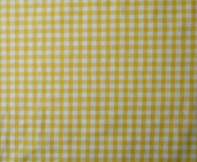 "1/4"" Gingham Check Polycotton Yellow"