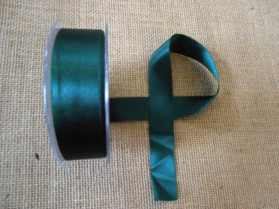 25mm Satin Ribbon Forest Green
