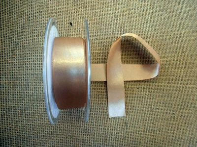 25mm Satin Ribbon Ecru
