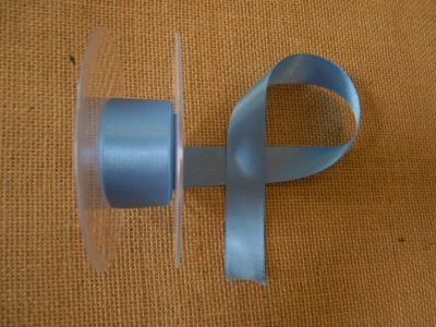 25mm Satin Ribbon Denim