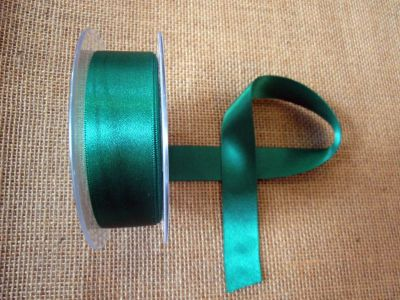 25mm Satin Ribbon Emerald