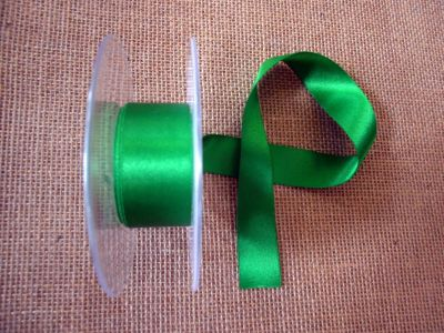 25mm Satin Ribbon Grass