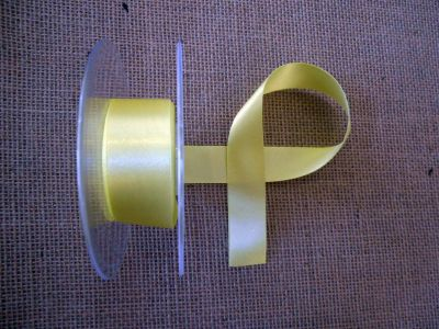 25mm Satin Ribbon Lemon