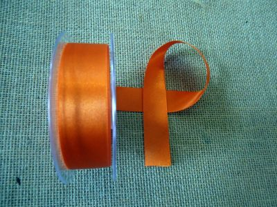 25mm Satin Ribbon Orange