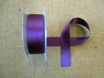 25mm Satin Ribbon Plum