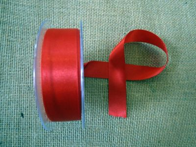 25mm Satin Ribbon Red