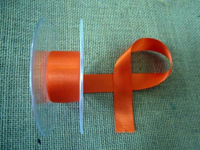 25mm Satin Ribbon Flame