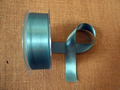 25mm Satin Ribbon Petrol