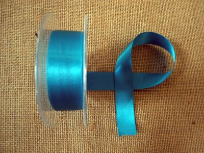 25mm Satin Ribbon Malibu Blue
