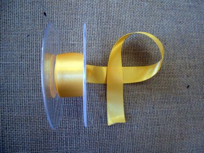 25mm Satin Ribbon Gold