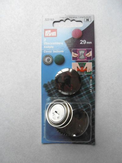 29mm Metal Cover Buttons