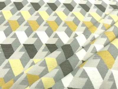 3D Stairs FR Chenille Yellow Black Grey Tex EX 1953