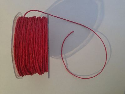 Red Paper Cord | Textile Express | Buy Fabric Online