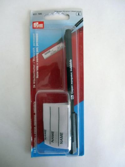 Prym Iron on Name Tags with Permenent Marker