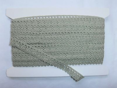 Scalloped Cotton Lace Olive