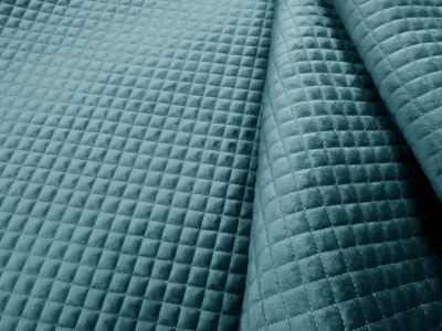 Quilted Velvet Blue A123