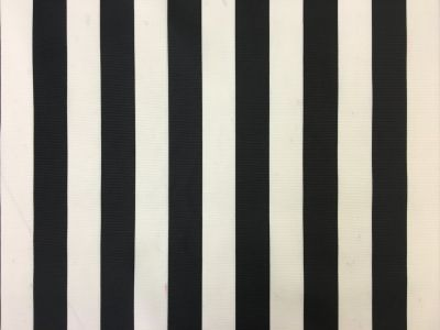 Beach Hut Stripe PU Coated Black C168