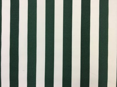 Beach Hut Stripe PU Coated Bottle Green C167