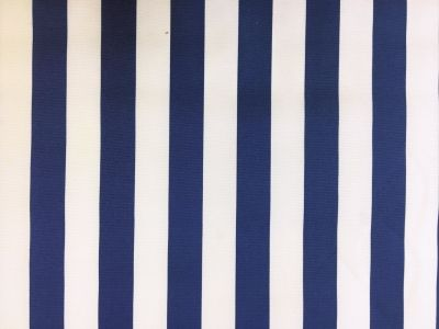 Beach Hut Stripe PU Coated Royal Blue C166
