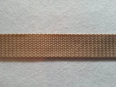 "Bag Strap Webbing Tape 1"" Beige"