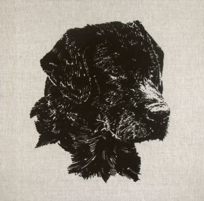 Working Dogs Black Labrador Cushion Panel