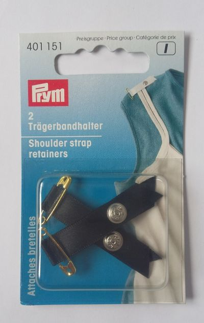 Prym Shoulder Strap Retainers Black
