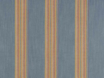 Clarke & Clarke Boho Stripe Denim Rouge
