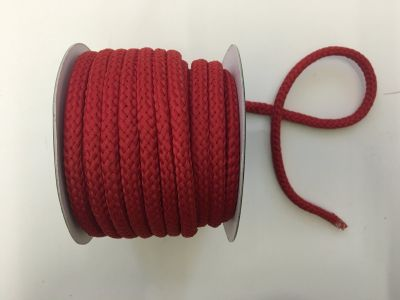 8mm Braided Cord Red