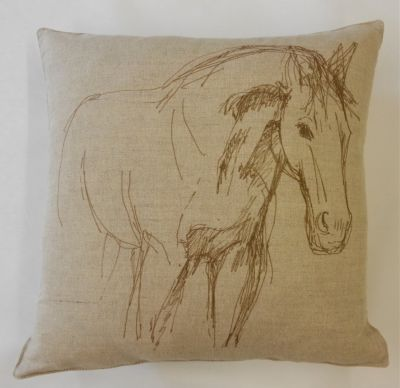 Textile Express Broodmare Dream Horse Cushion