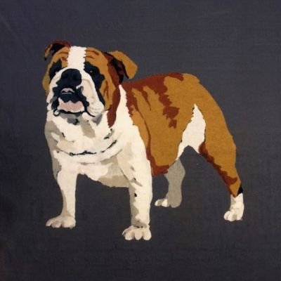 Bulldog Velvet Cushion Panel