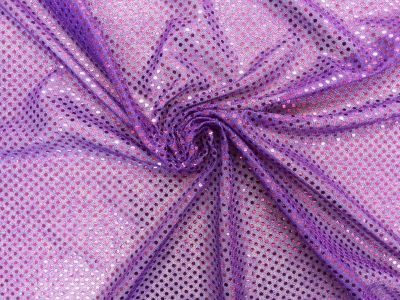 3mm Round Sequinned Net Lilac Purple C1778