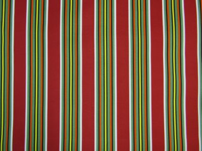 UV And Water Resistant Tropical Stripe Red Green Orange C266