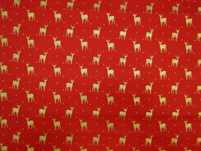 Golden Reindeer Gold Red White C322