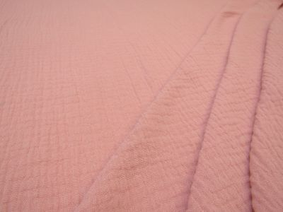 Muslin Double Cloth Crinkle Pink c336