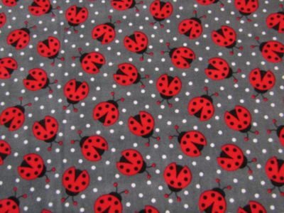 Ladybird Polar Fleece Grey Red C353