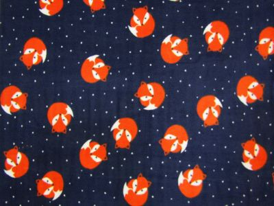 Sleepy Fox Polar Fleece Navy