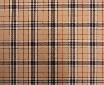 Camel Red and Black Check Fabric