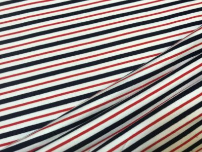 Sailor Stripe French Terry Jersey Navy White Red C381