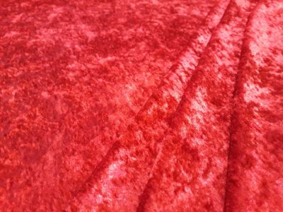 Stretch Velour Red