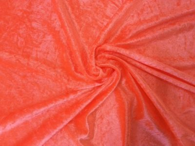 Fluorescent Orange Velour C4218
