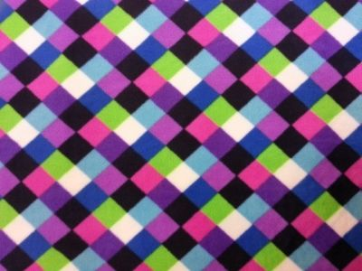 Harlequin Multi Polar Fleece Purple Fabric Col 2 C6789
