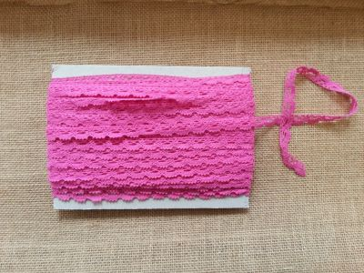 Cotton Scalloped Edge Trim Pink