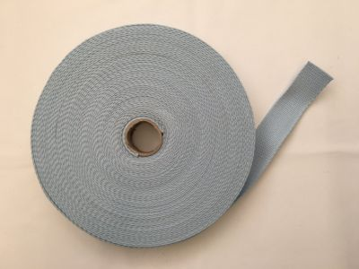Cotton Webbing Silver Blue 002