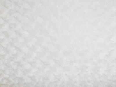 White Curly Fur Fabric