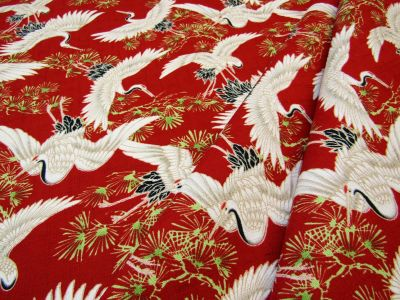 Japanese Storks Oriental Red D91