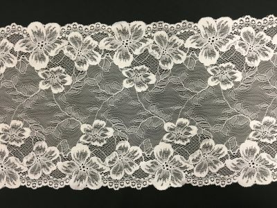 Wide Elastic Lace White 001