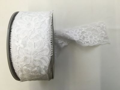 Elastic Lace White 001