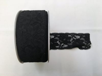 Elastic Lace Black 014